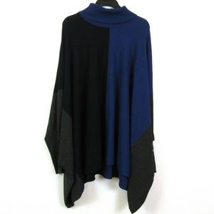 Alfani 3X Blue Colorblock Turtleneck Sweater N2-04
